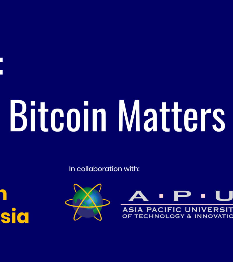 BitcoinMalaysia Talk @ Asia Pacific University (APU) – 7th March 2019