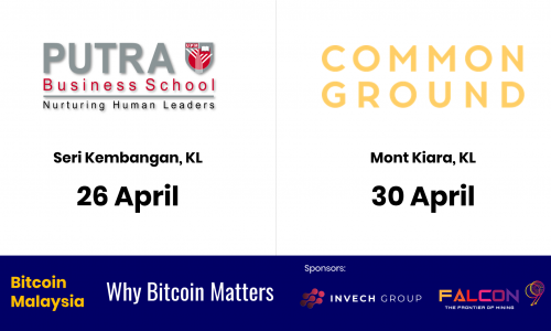 Two more BitcoinMalaysia events for April.